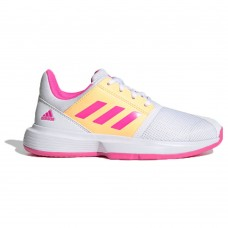 ADIDAS COURT JAM XJ FX1490 WHITE/PINK/ACIORA GIRLS TENNIS