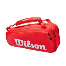 WILSON SUPER TOUR 6PCK WR8010701001 RED TENNIS BAG