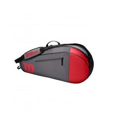 WILSON TEAM 3 PACK RED/GREY TENNIS BAG