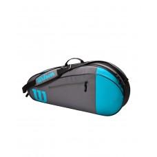 WILSON TEAM 3 PACK BLUE/GREY TENNIS BAG