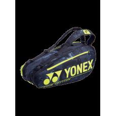 YONEX PRO 6PACK BA92026EX BLACK/YELLOW TENNIS BAG