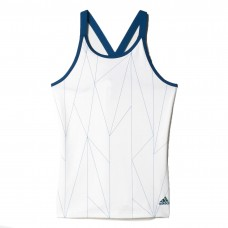 ADIDAS CLUB TANK AX9659 WHITE/TECH STEEL GIRLS TOP
