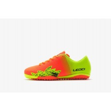 LEOCI PURGATORY TF ORANGE/GREEN JUNIOR TURF SHOES