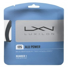LUXILON ALU POWER 1.25MM 12.2M SET SILVER TENNIS STRING