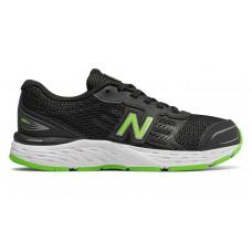 NEW BALANCE YE680BG  BLACK/GREEN JUNIOR RUNNING SHOE WIDE