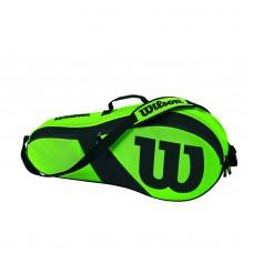 WILSON MATCH III 3PACK Z82483 GREEN TENNIS BAG