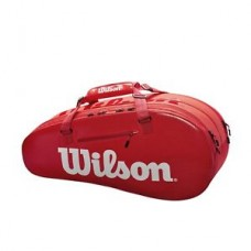 WILSON SUPER TOUR 2 SMALL 6 PACK RED/WHITE Z84083