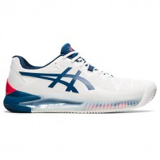 ASICS GEL RESOULTION 8 CLAY 1041A076-103 WHITE MENS TENNIS