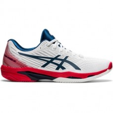ASICS SOLUTION SPEED FF 2 CLAY 1041A187-101 WHITE MENS TENNIS SHOE