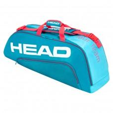 HEAD TOURTEAM COMBI 6PACK 283150 BLUE/PINK TENNIS BAG