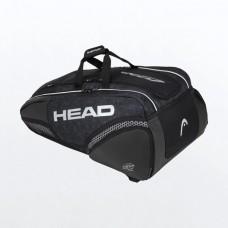 HEAD DJOKOVIC MONSTERCOMBI 12PACK 283040 BLACK TENNIS BAG