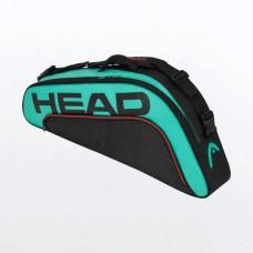 HEAD TOUR TEAM 3PACK 283160 BLACK/TEAL TENNIS BAG