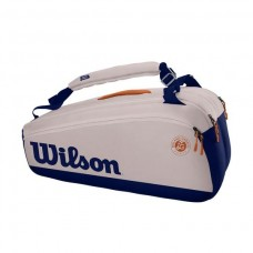 WILSON ROLAND GARROS PREMIUM 9 PACK OYSTER TENNIS BAG