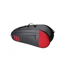 WILSON TEAM 6PACK 800980 RED/GREY TENNIS BAG