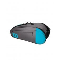 WILSON TEAM 6PACK 800980 BLUE/GREY TENNIS BAG