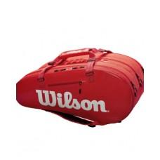 WILSON SUPER TOUR 3  15PACK WR Z840815 RED TENNIS BAG