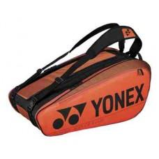 YONEX PRO 9PACK BA92029EX COPPER ORANGE TENNIS BAG
