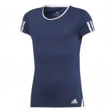 ADIDAS CLUB TEE DU2466 NAVY GIRLS TENNIS TOP