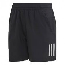 ADIDAS CLUB 3 STRIPE BOYS TENNIS SHORT BLACK DU2490