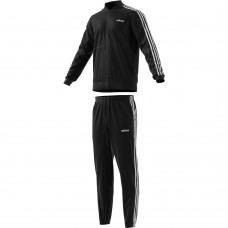 ADIDAS MUST HAVE BACK 2 BASICS  3 STRIPE TRACKSUIT  BLACK MENS DV2448