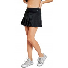 "ELEVEN FLUTTER BLACK LADIES TENNIS SKIRT 14"" CP510C-001"