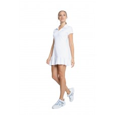 ELEVEN SWING DRESS CP6294-100 WHITE PIQUE RANGE