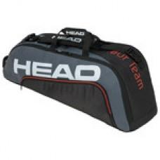HEAD TOUR TEAM 6PACK COMBI 283150 BLACK/GREY TENNIS BAG