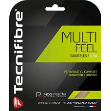 TECNIFIBRE MULTIFEEL 1.30MM 12M SET NATURAL TENNIS STRING