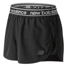 NEW BALANCE ACCEL 2.5IN LADIES BLACK SHORT WS81134