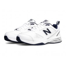 NEW BALANCE MX624WN4 2E WHITE/NAVY MENS CROSS TRAINING SHOE