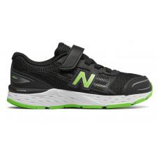 NEW BALANCE BLACK/GREEN JUNIOR RUNNING SHOE WIDE YD680BG