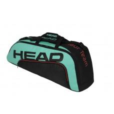 HEAD TOUR TEAM 6PACK COMBI 283150 BLACK/TEAL TENNIS BAG