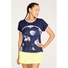 ELEVEN ASTRIX TEE 427  BLUE FLORAL LADIES TENNIS