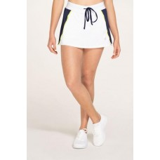 "ELEVEN MIRROR SKIRT 13"" 325 WHITE/NAVY/LIME"