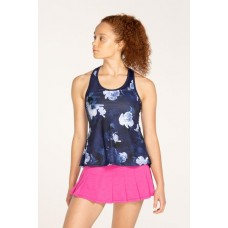 ELEVEN RACE DAY TANK 427 BLUE FLORAL LADIES TENNIS