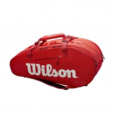 WILSON SUPER TOUR 2 COMP LARGE 9 PACK Z84089 RED RACQUET BAG